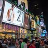 NEW YORK CITY. MANHATTAN. TIMES SQUARE AT NIGHT.