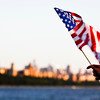 NEW YORK CITY. INDEPENDENCE DAY. HUDSON RIVER VIEW ON MANHATTAN.