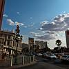 LAS VEGAS. NEVADA. THE STRIP SEEN FROM THE VENETIAN.
