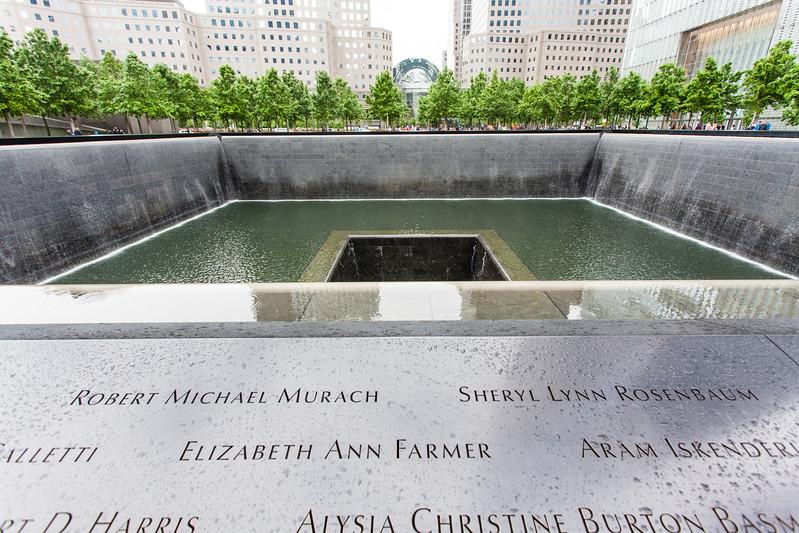 NEW YORK CITY. MANHATTAN. 9-11 TWIN TOWERS MEMORIAL.
