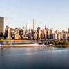 NEW YORK CITY. MANHATTAN SKYLINE DURING SUNRISE.