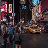 NEW YORK CITY. MANHATTAN. TIMES SQUARE AT NIGHT. MC. DONALD'S.