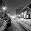 Snowing in town, Portland, ME