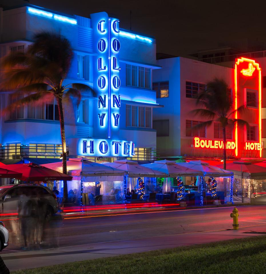 Art Deco Architecture on Ocean Drive, Miami