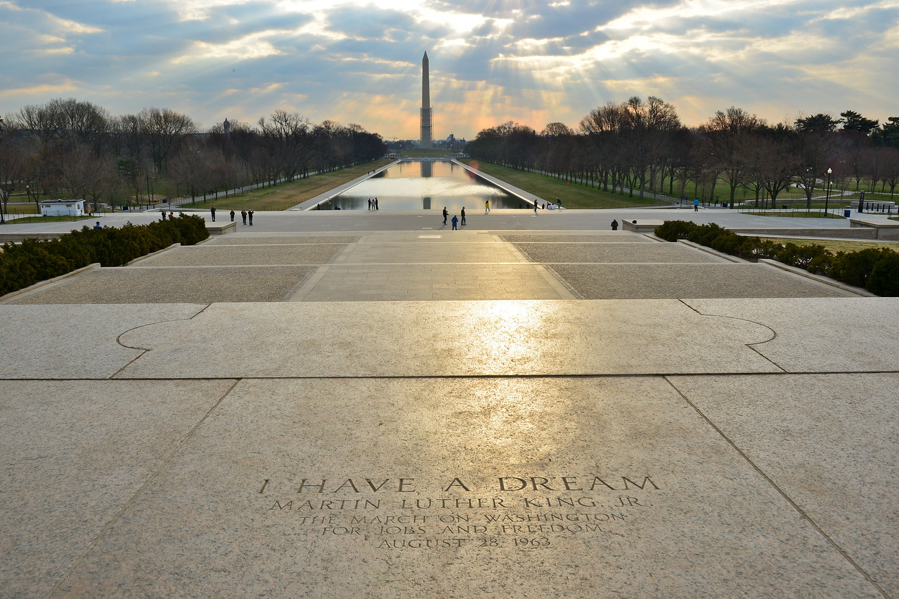 On the steps of the Lincoln Memorial, Washington DC, United States