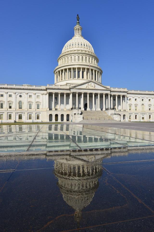 Iconic US Capitol Building, Washington DC, United States