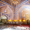 SAMARKAND. REGISTAN. INTERIOR OF THE MOSQUE INSIDE THE TILLA-KARI (GOLD COVERED) MEDRESSA. [3]