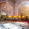 SAMARKAND. REGISTAN. INTERIOR OF THE MOSQUE INSIDE THE TILLA-KARI (GOLD COVERED) MEDRESSA. [6]