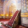 SAMARKAND. REGISTAN. INTERIOR OF THE MOSQUE INSIDE THE TILLA-KARI (GOLD COVERED) MEDRESSA. [12]