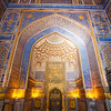 SAMARKAND. REGISTAN. INTERIOR OF THE MOSQUE INSIDE THE TILLA-KARI (GOLD COVERED) MEDRESSA.