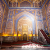SAMARKAND. REGISTAN. INTERIOR OF THE MOSQUE INSIDE THE TILLA-KARI (GOLD COVERED) MEDRESSA. [2]