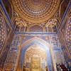 SAMARKAND. REGISTAN. INTERIOR OF THE MOSQUE INSIDE THE TILLA-KARI (GOLD COVERED) MEDRESSA. [4]