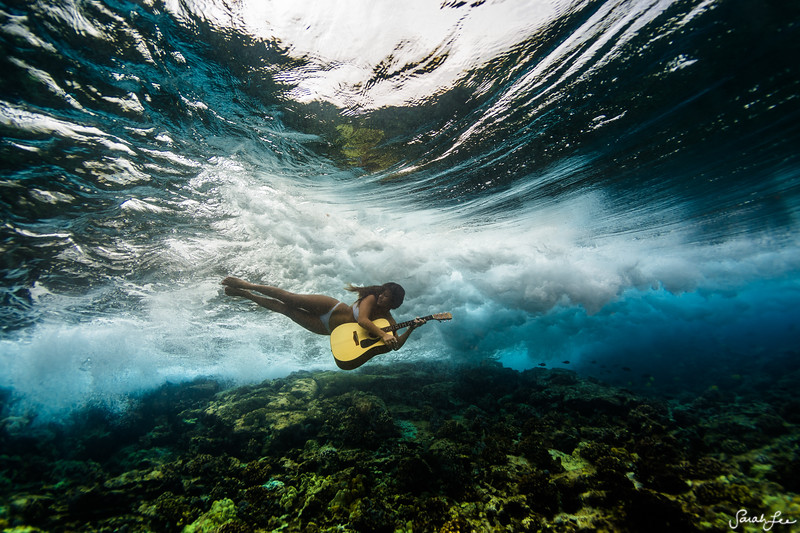 Singer/songwriter Kimie Miner, under the sea.