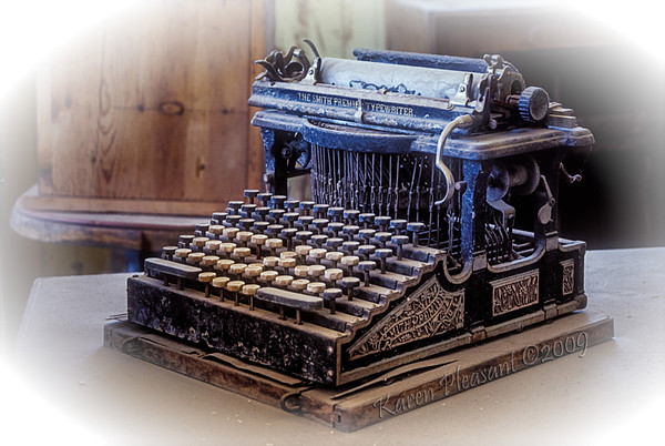 Bodie State Historic Park -  Old typewriter