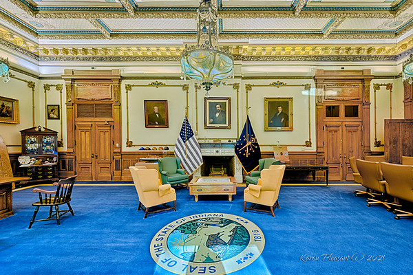 Indiana Statehouse - Governor's office