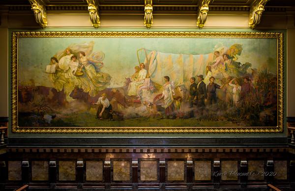 Iowa State Capitol - Westward mural