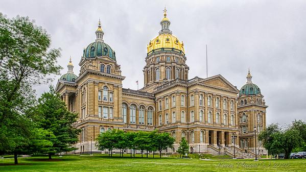 Iowa State Capitol - Back