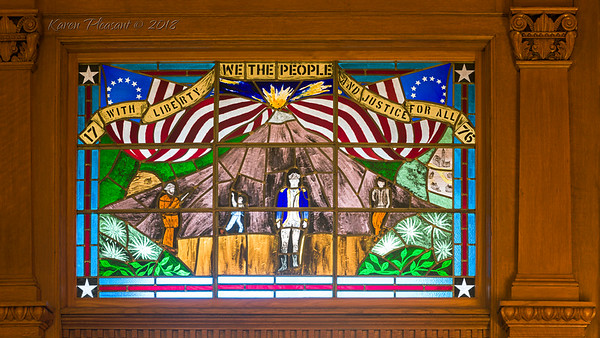 Kansas State Capitol - Stained glass window