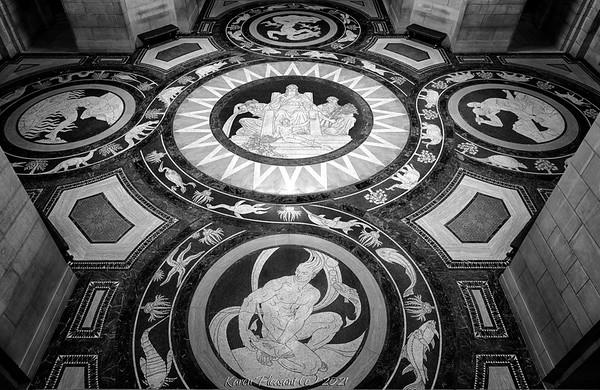 Nebraska State Capitol - rotunda floor
