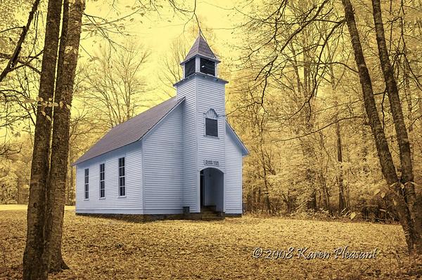Palmer Chapel Methodist Church, Cataloochee Valley, Smokey Mountains NP