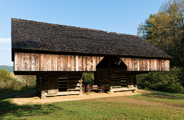 Tipton family cantilevered barn, Cades Cove, Smokey Mountains NP