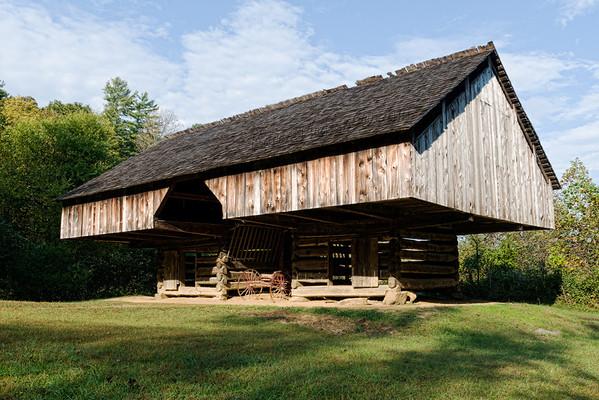 Tipton family cantilevered barn, Cades Cove, Smokey Mountains NP