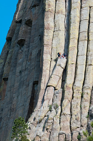 Climbers @ Devil's Tower, Wyoming