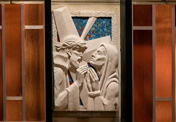 Artwork in the  Catholic chapel