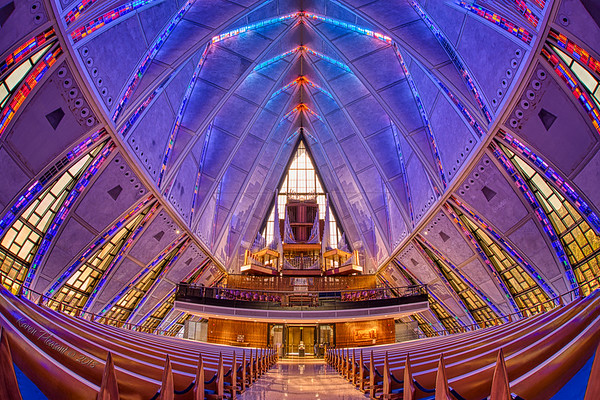 Protesant Chapel -  toward the entrace, Colorado