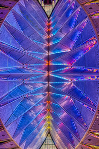 Fisheye view of the ceiling - entrance to chapel at the top