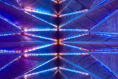 Air Force Academy, Protesant Chapel ceiling
