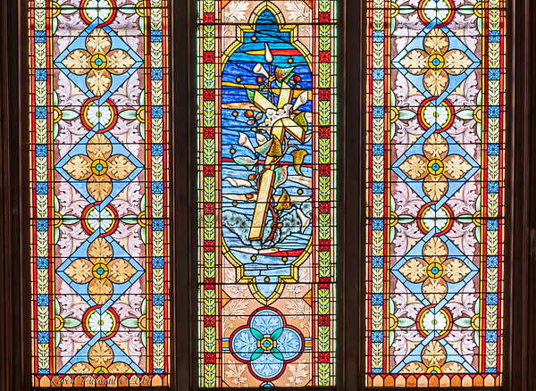Makemie Memorial Presbyterian Church-window detail
