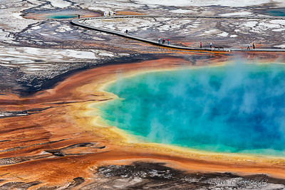 Grand Prismatic Spring, Yellowstone Natl Park