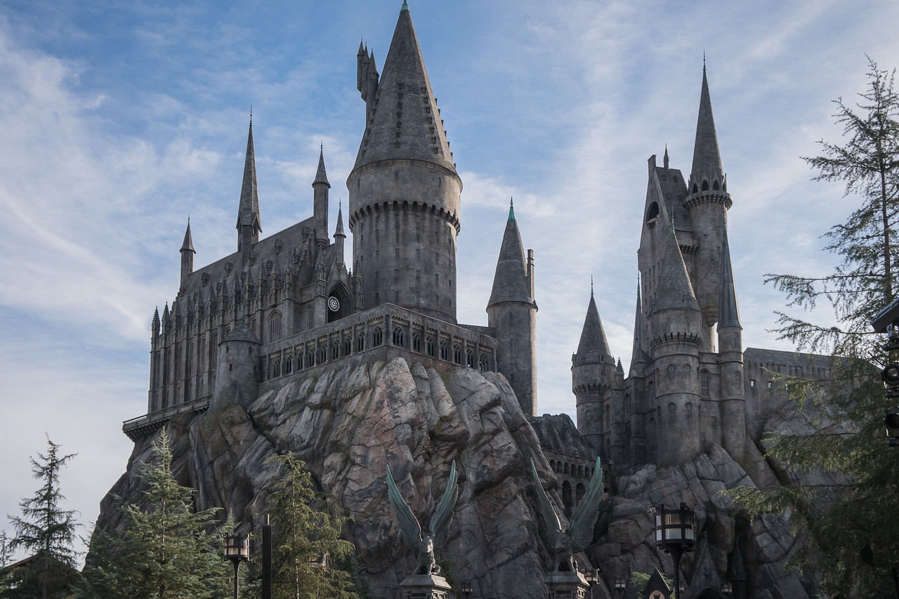 Hogwarts dominates the skyline at Universal Studios Hollywood