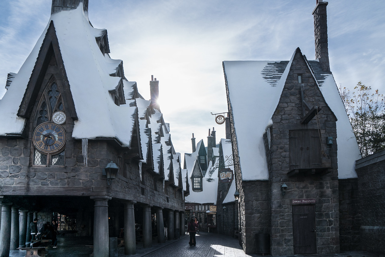 Hogsmeade backstreet, part of the Wizarding World of Harry Potter