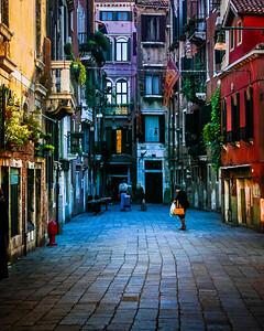 Calle dei Botteri in Venice Italy.
