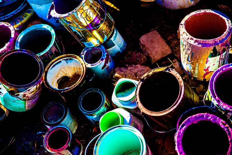 Painted Cans