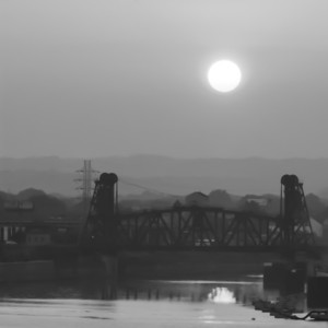 Louisville Sunrise, Black and White