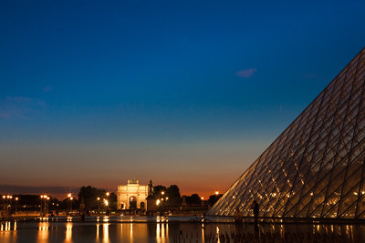 Sunset at Louvre and Tuileries