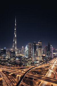 Burj Khalifa Tower at night