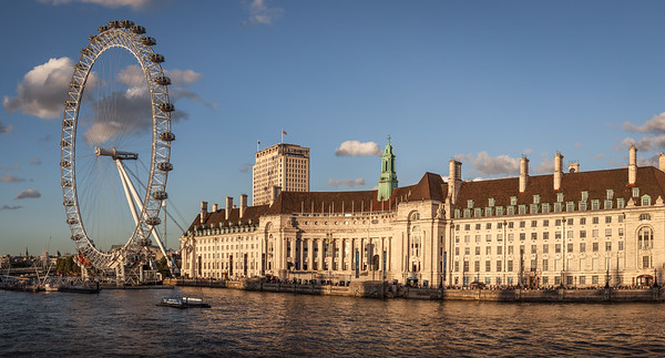 The London Eye & County Hall, England