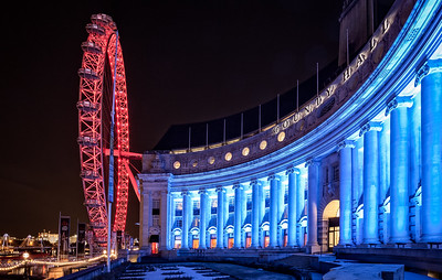 County Hall & The London Eye, England