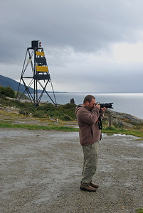 Jason from NG at work photographing the bay