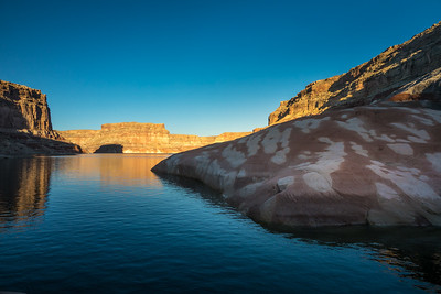 Sunset at Splotchy Rocks in Last Chance Bay, Lake Powell