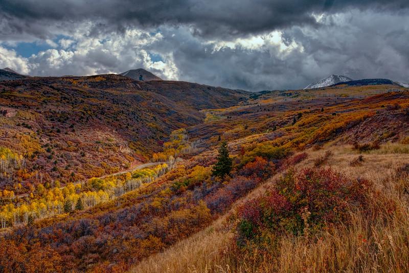 La Sal Mountains in the Autumn