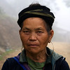 SAPA. TAVAN VILLAGE. PORTRAIT OF AN OLD H'MONG LADY.