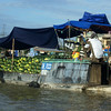 Mekong Delta near Can Tho, Vietnam by JeeWee, floating market, rice paper fabric.