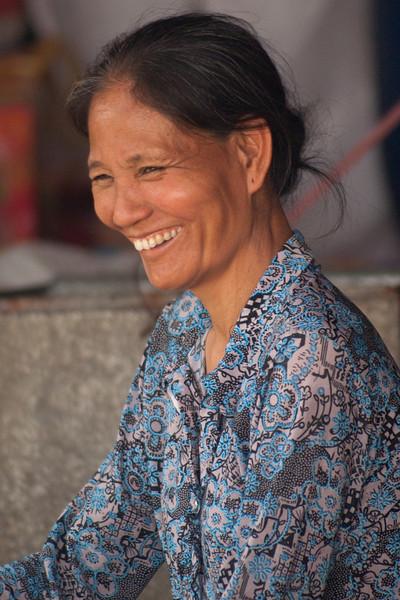 PERFUME PAGODA. OLD VIETNAMESE LADY.