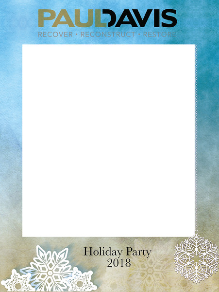 Paul Davis Holiday Party 2018 VIP Photobooth Frame