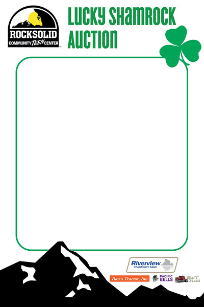 Rocksolid Lucky Shamrock Auction VIP Photobooth Frame